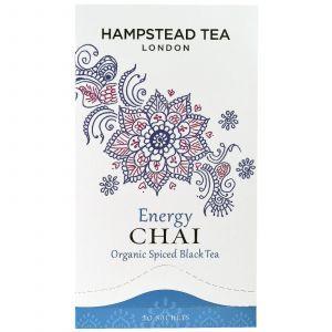 Черный чай, Black Tea, Hampstead Tea, органик, 20 пакетов, 50