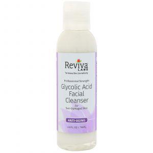 Очищающее средство с гликолевой кислотой, Facial Cleanser, Reviva Labs, 118 мл