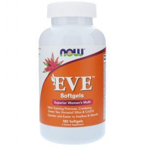 Витамины для женщин, EVE Women's Multi, Now Foods, 180 капс