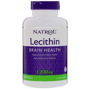 Лецитин, Soya Lecithin, Natrol, 1200 мг, 120 капсу
