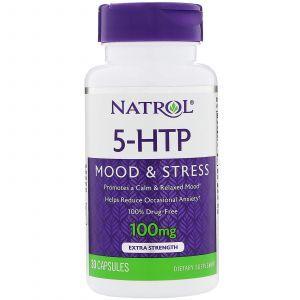 5-гидрокситриптофан (Mood Positive 5-НТР), Natrol, 100 мг, 30 ка