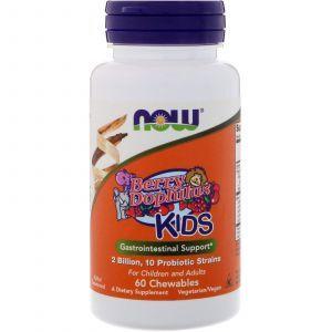 Пробиотики (BerryDophilus) вкус ягод, Now Foods, 4 Billion, 60 таблет