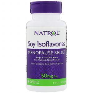 Соевые изофлавоны, Soy Isoflavones, Natrol, 60 капсу