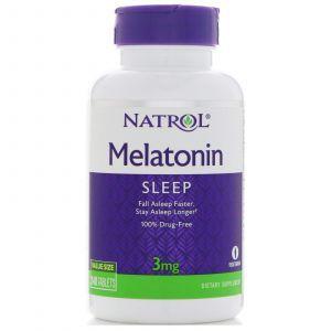Мелатонин, Melatonin, Natrol, 3 мг, 240 таблет