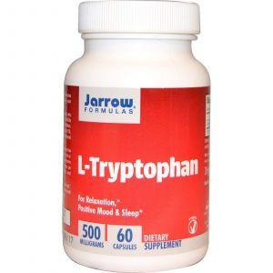 Триптофан (L-Tryptophan), Jarrow Formulas, 500 мг, 60 капс