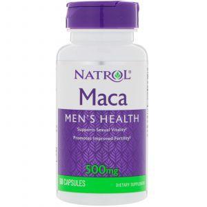 Мака перуанская (Maca), Natrol, 500 мг, 60 капс