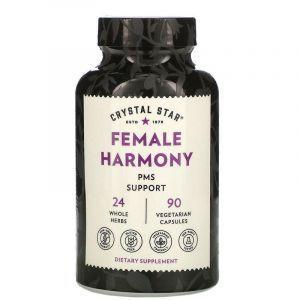 Женская гармония, смесь трав, Female Harmony, Crystal Star, поддержка ПМС, 90 капсул