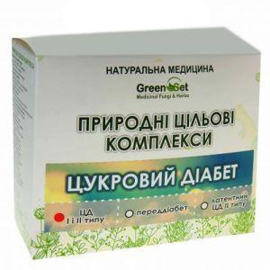 """Природный целевой комплекс """"Сахарный диабет 1 и 2 типа"""", GreenSet, растительные препараты, 4 шт"""