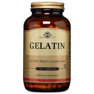 Желатин, Gelatin, Solgar, 100 капсул