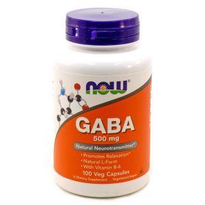 Гамма-аминомасляная к-та (GABA), Now Foods, 500 мг, 100 капс