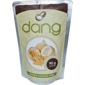 Поджаренные кокосовые чипсы, Toasted Coconut Chips, Dang Foods LLC, 90 г
