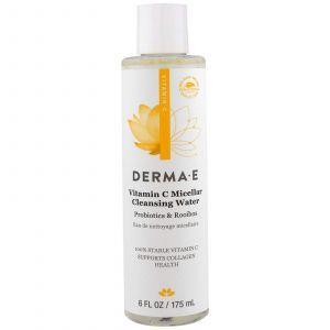 Мицеллярная очищающая вода, Micellar Cleansing Water, Derma E, 175 мл