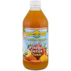 Яблочный уксус органик, Apple Cider Vinegar, Dynamic Health Laboratories, 473 мл
