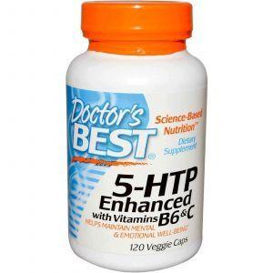 5-гидрокси L-триптофан (5-НТР), Doctor's Best,120 кап.