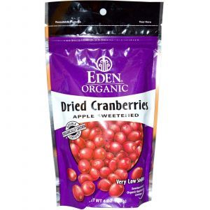 Органическая сушеная клюква, Eden Foods,  113 г