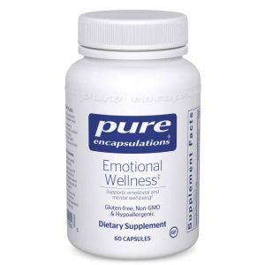 Эмоциональное Здоровье, Emotional Wellness, Pure Encapsulations, 60 капсул