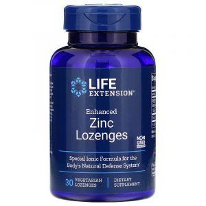 Цинк леденцы, Enhanced Zinc Lozenges, Life Extension, 30 леденцов