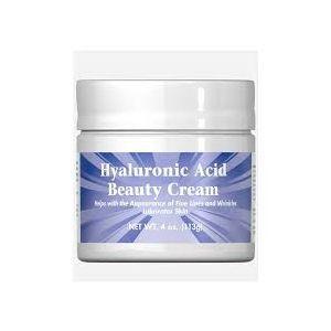 Крем с гиалуроновой кислотой, Nature Smart HyaLuronic Acid Beauty Cream, Puritan's Pride, 113 г