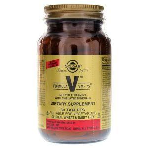 Мультивитамины формула, Formula VM-75, Multiple Vitamins, Solgar, 60 таблеток (Default)