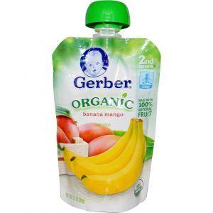 Детское пюре из банана и манго, (Organic Baby Food), Gerber, 99 г