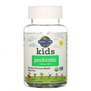 Детский пробиотик со вкусом вишни, Kids Probiotic, Garden of Life, 3 миллиарда КОЕ, 30 жевательных конфет