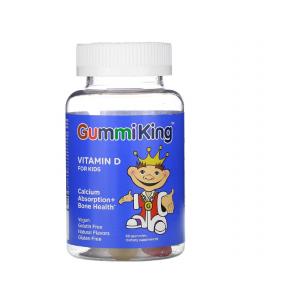 Витамин Д для детей, Vitamin D, Gummi King, жевательный, 60 конфет