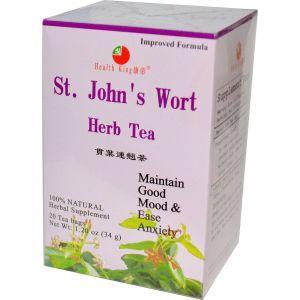 Травяной чай из корня зверобоя, St John's Wort, Health King, 20 чайных пакетов, 34 г