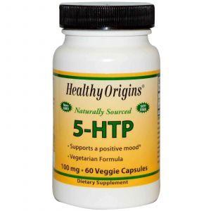 5-гидроксил L-триптофан(5-НТР),Healthy Origins,100мг, 60