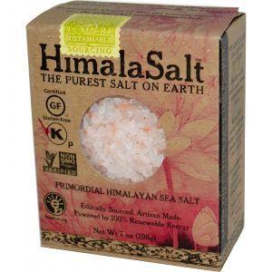 Гималайская морская соль, Himalayan Sea Salt, HimalaSalt, 198 г