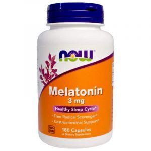 Мелатонин, Melatonin, Now Foods, 3 мг, 180 капсу
