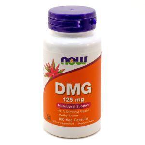 Диметилглицин, Now Foods, DMG, 125 мг, 100 капсу