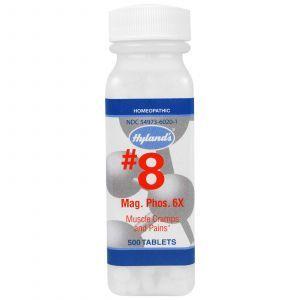 Магнезия фосфорика 6X, #8 Mag. Phos 6X, Hyland's, 500 таблеток