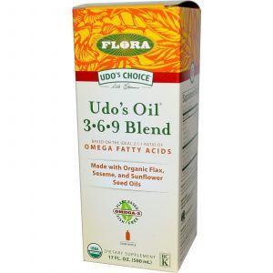 Смесь растительных масел (Udo's Oil 3•6•9), Flora, 500 мл