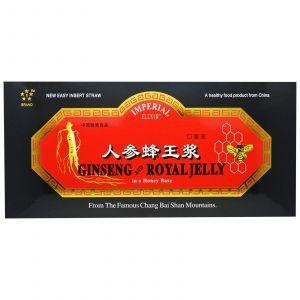 Женьшень и маточное молочко, Ginseng and Royal Jelly, Imperial Elixir, 30 бутылочек по 10 мл