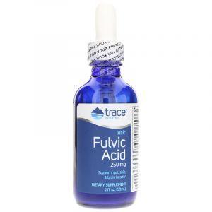 Ионная фульвовая кислота, Ionic Fulvic Acid, Trace Minerals Research, жидкость, 250 мг, 59 мл