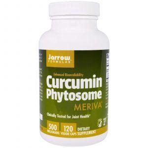 Фитосомы куркумина, Curcumin Phytosome, Meriva, Jarrow Formulas, 500 мг, 120 капсул
