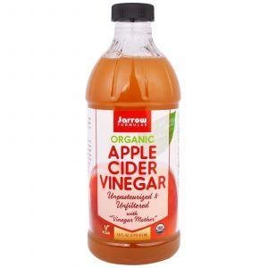 Органический яблочный уксус, Organic Apple Cider Vinegar, Jarrow Formulas, 473 мл