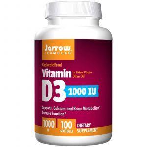Витамин Д3, 1000 МЕ, Jarrow Formulas, 100 кап.