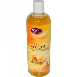 Чистое абрикосовое масло, Life Flo Health, 473 мл
