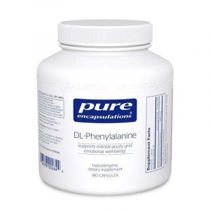 DL-фенилаланин, DL-Phenylalanine, Pure Encapsulations, 180 капсул