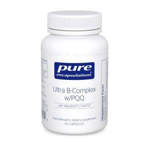 Витамины B-комплекс плюс, Ultra B-Complex с PQQ, Pure Encapsulations, 60 капсул