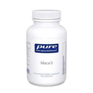 Мака-3, Maca-3, Pure Encapsulations, способствует здоровому либидо и функции репродуктивной системы, 120 капсул