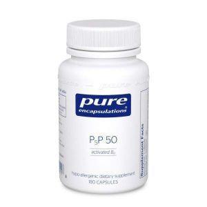 Витамин B6 (Пиридоксаль-5-Фосфат), P5P 50 (activated vitamin B6), Pure Encapsulations, 180 капсул