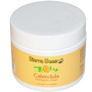 Успокаивающий крем, мед Манука, Календула, Sierra Bees, 4 oz, (60 г)