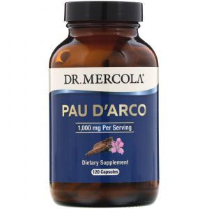 По д'арко, Pau D'Arco, Vitacost, Dr. Mercola, 1000 мг, 120 капсул