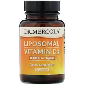 Витамин Д3 липосомальный, Liposomal Vitamin D3, Dr. Mercola, 10 000 МЕ, 90 капсул