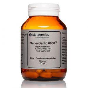 Чеснок, SuperGarlic 6000, Metagenics, 90 таблеток