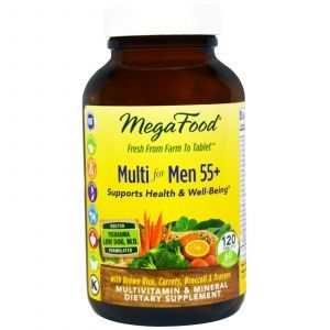 Витамины для мужчин 55 +, Multi for Men 55+, Mega Food, 120 таб.