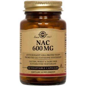 N-ацетинцистеин (ацетилцистеин), Solgar, 600 мг, 30 капcул