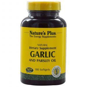 Чеснок и петрушка (масло), Garlic and Parsley Oil, Nature's Plus, 180 гелевых капсул